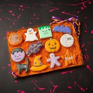 ハロウィン限定アイシングクッキー全種類12枚セット