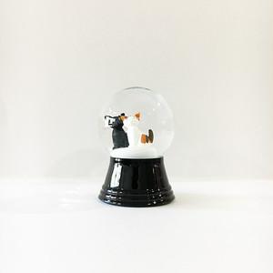 黒猫と三毛猫 スノードーム PERZY社 S