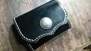 ボックスコインケース コードバン ブラック