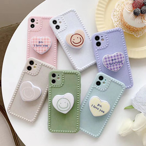 グリップ付き Love Heart iphone case