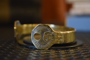 THUMBS UP MARKET original antique KEY bangle