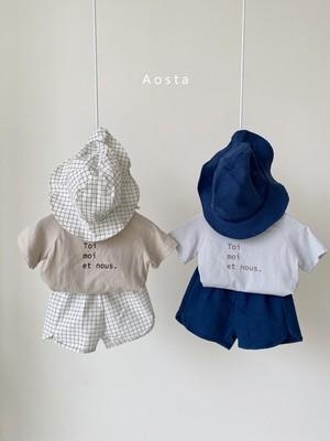 【予約販売】pokari linen short-pants〈Aosta〉
