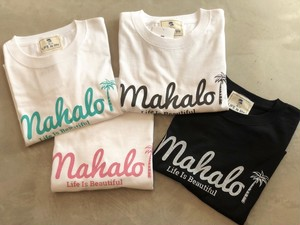 新☆mahaloTシャツ(white.black.pink.green)¥2900+tax