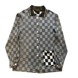 ENFANTS RICHES DÉPRIMÉS CHECKERBOARD CARDIGAN COAT