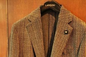 LARDINI Herringbone Pattern Jacket