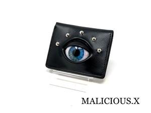 eye folding wallet / blue