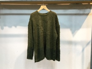 "children of the discordance""ALPACA GRADATION BIG KNIT OLIVE"""
