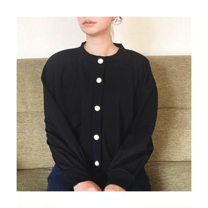 Volume sleeve sweat cardigan