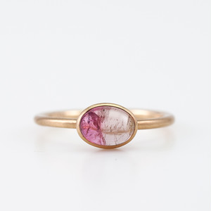 By color tourmaline ring / Cabochon