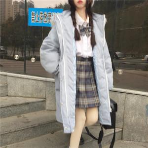 【アウター】韓国系カジュアルスウィートフード付きジッパーアウター