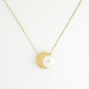 Akoya pearl circle necklace