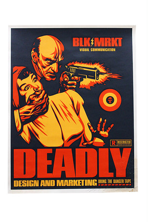 シルクスクリーン | Shepard Fairey「BLK/MRKT Deadly」