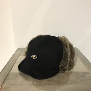 フライトキャップ(レコードワッペン) ブラック 2019秋冬新作 F ユニセックス WATERFALL コラボ商品