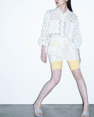 1970s Chantal Thomass - cutwork lace pullover shirt