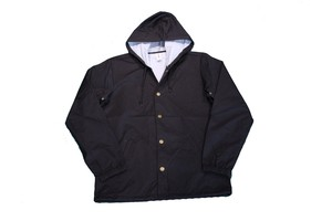 INDEPENDENT TRADING Water Resistant HOOD COACHE JACKET BLACK