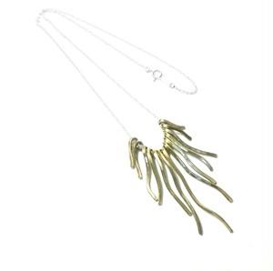 お買い得☆真鍮アクセサリー ボリュームネックレス