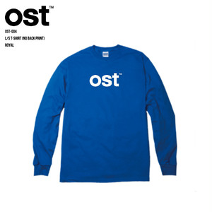 ost™️ L/S T-SHIRT (BACK PRINTなし) ROYAL