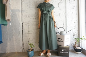 【Phlannèl】Summer French Dress col.Green