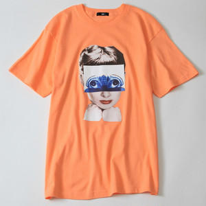 Ari Heroine Tee -Light orange-