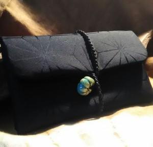 巻きタバコケース シャグポーチ 麻の葉 正絹