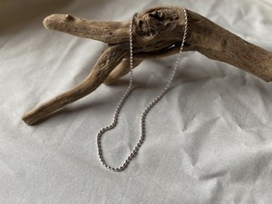 petit silver long necklace