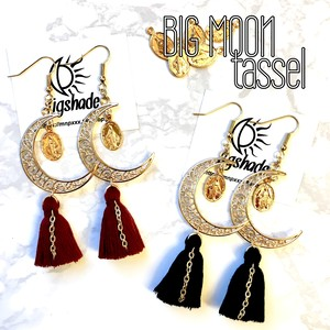 【No.1186】タッセルカラー選択///Big moon✴︎Select tassel
