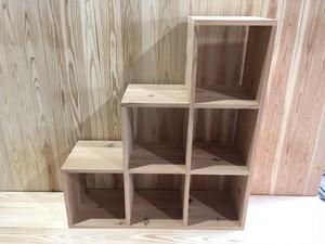 『送料着払い』DIYキット 杉【箱階段型・ねこ階段型収納キット】材料長さカット済み 1セット11000円