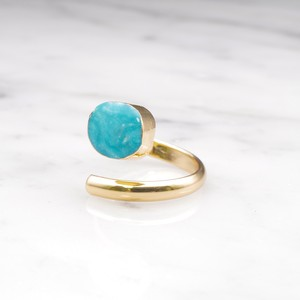 SINGLE TURQUOISE OPEN RING 01