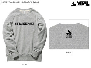 BORED VITAL DIVISION / S.E RAGLAN SWEAT