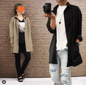 TMDL《T/Rスーツ素材スーパービッグシャツジャケット》3色☆