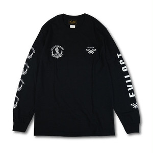 EVILACT(イーブルアクト) × UZ.UZ COMPANY  long sleeve tee (black)