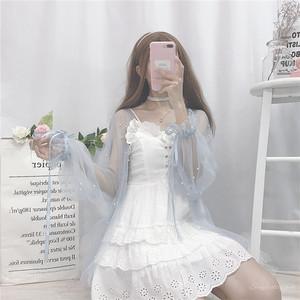 【セットアップ】キュートエレガントリボンアウター春夏秋+膝丈ワンピースセットアップ