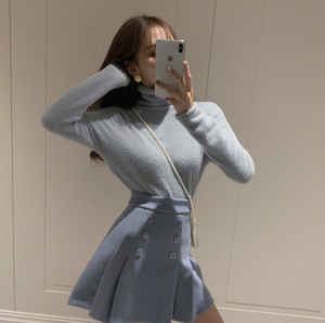 ハイネックセーター+スカートセットアップ