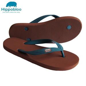 【Hippo Bloo】ビーチサンダル(ブラウン/ペールブルー)