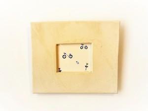 「いつもの場所へ」イラスト原画/陶器の額縁入り