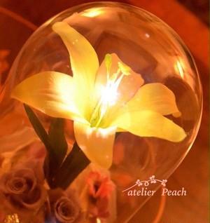 光る黄金の花☆ティアラ付き 〜LED使用〜