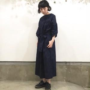 千里花柄ジャガードドレス