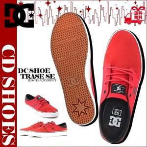 ADYS300173 ディーシー スニーカー メンズ レディース 靴 ローカットスニーカー ランニング おしゃれ ギフト 赤 レッド 24cm TRASE SE DC SHOES