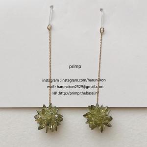 321.Star dust long pierce&earring