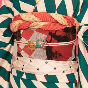 《2色》松と幾何学【袋帯】