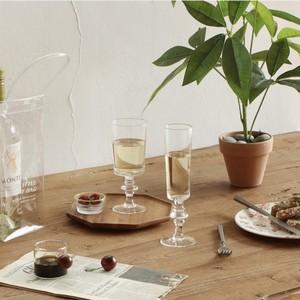 angle glass cup 2types / アングル ガラス コップ ゴブレット シャンパン ワイングラス 韓国 北欧 雑貨