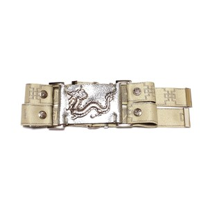 【DYNASTI】Dragon Collar with Dynasti logo straps in Champagne