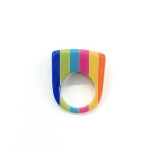 60s Lucite Ring(マルチカラーストライプ)