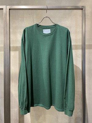 TrAnsference loose fit long sleeve T-shirt - dull green garment dyed