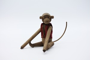 木製猿人形  Wooden Monkey Doll 20th C