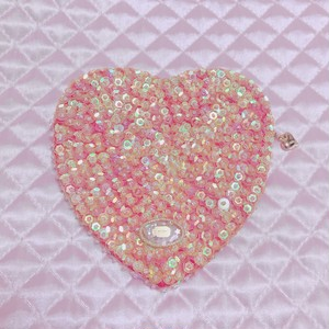 【再入荷】spangle heart pouch