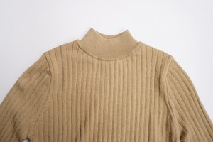 Needle Out Rib Mock Neck