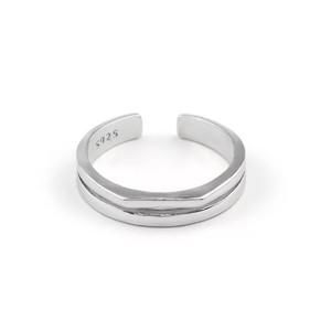 ダブルラインリング(Silver925)