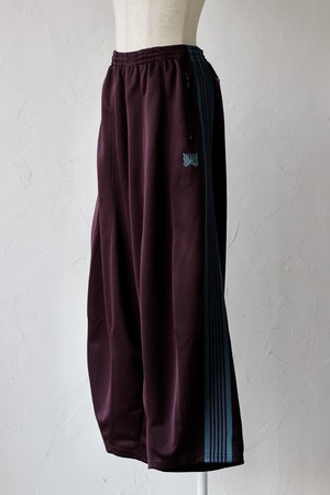 【Needles】H.D.track pant-poly smooth #bordeaux