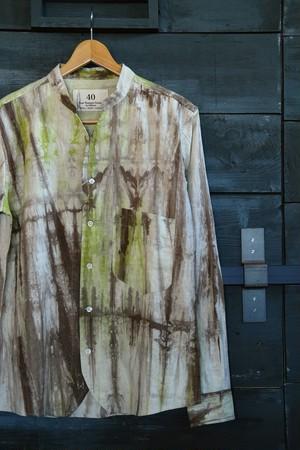 【Four Seasons Garage】綿麻ムラ柄ガーゼカラーレスシャツ